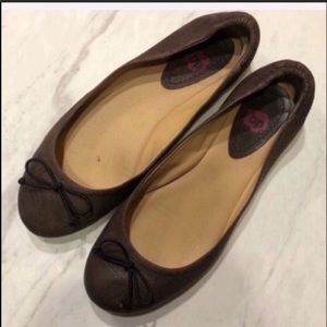 NORDSTROM-BP-Brown Leather Ballet Flats-Size 6.5
